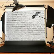 5x3FT Vinyl White Brick Wall Backdrop Studio Props Photography Photo Background