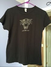 Arctic Cat Women's Ladie's Bling Studded V-Neck Tee T-Shirt  Black Silver XL