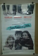 Seven Minutes in Heaven movie poster  full size. Rare. Vintage 1986