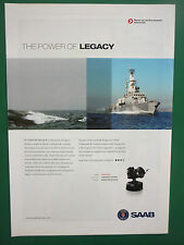 10/2008 PUB SAAB NAVAL COMMAND AND CONTROL SYSTEMS CEROS 200 RADAR OPTRONIC AD