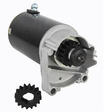 NEW STARTER MOTOR BRIGGS & STRATTON 399928 495100 14 16 18 HP WITH FREE GEAR