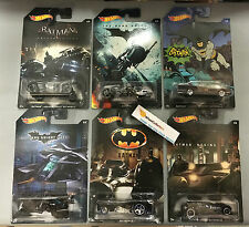 Hot Wheels Batman Series * Complete 2015 6 Car Set * Limted Edition Walmart Only