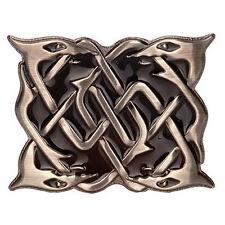 Nueva moda nuevo Hebilla De Serpiente Kilt Highland en Acabado Antiguo Con Esmalte Negro