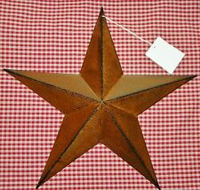 "Rustic Primitive RUSTY Tin 12"" Barn Star Country Home decor Farmhouse charm"