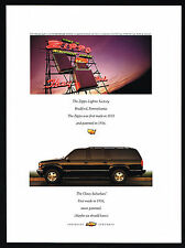 1998 Chevrolet Suburban SUV Zippo Cigarette Lighter Factory Magazine Print Ad