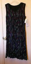 NEW Amanda * Black w/multi-color design pull over dress.  Size S