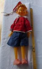 Original DDR / UdSSR - Buratino Pinocchio -mit Stoffkörper und Schaumstoffhaaren