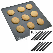 10 x UNIVERSAL Teflon Coated Non Stick Extra Large Baking Oven Sheet Mat Liner