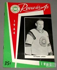1964-65 AHL Quebec Aces Program Raymond Larose Cover