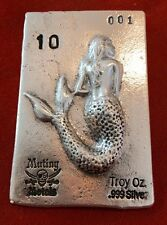 Limited Edition Siren Of The Sea 10 oz .999 Fine Silver Bar - USA PIRATE BULLION