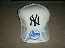 New York Yankees New Era 39 M/L White STRETCH Fitted Baseball Cap NEO PRIMARY
