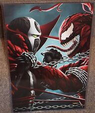 Spawn vs Carnage Glossy Print 11 x 17 In Hard Plastic Sleeve