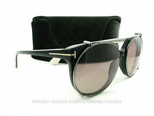 New Tom Ford Sunglasses TF370 Agatha 05A Black White FT0370/S Authentic