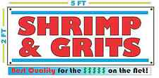 SHRIMP & GRITS BANNER Sign NEW XL Larger Size Best Quality for the $$$$$ -