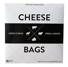 Harold Formaticum Cheese Storage Bags Wax-Coated Food Saver Containers, 15-Count