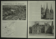 Lichfield Staffordshire History Mother Of The Midlands 1957 4 Page Photo Article