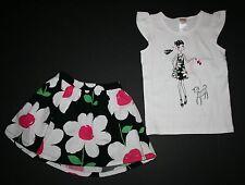 New Gymboree Daisy Girl Tee & Daisy Print Skirt Set 6 Yr Daisy Park Line Outfit