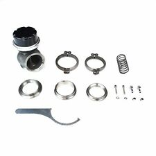 """RS-SERIES 50MM TURBO WASTEGATE V-BAND 5"""" TALL T4 7/14/28 PSI SPRING CLAMP BLACK"""