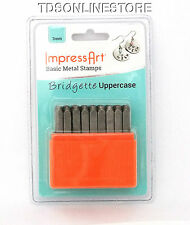 Basic Bridgette Upper Case Letter Metal Stamp Set 3mm