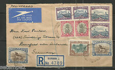 Union of south africa-r-Cover 30.06.1950 Durban natal à 2/6 sh + 2 paires