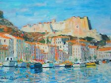 French Riviera Well Listed Artist Original Oil Painting Boudin Matisse Interest