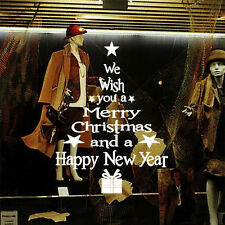 Removable Merry Christmas&Newyear Wall Stickers Decals Window Decor Vinyl