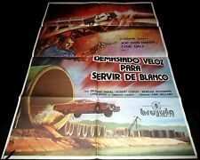 1977 Speedtrap ORIGINAL SPAIN POSTER 70S Drive-In ICONIC CAR CRASH AMAZING ART