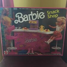 BARBIE VINTAGE 1989 SNACK SHOP FURNITURE PLAY SET WITH ACCESSORIES RARE FIND
