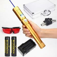 Most Powerful Zoomable Handheld Laser Pointer Laser Pen Laser Torch 2x18650 Gold
