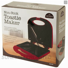 NON STICK TOASTIE MAKER SANDWICH MACHINE PANINI PRESS HEALTH GRILL GRIDDLE RED