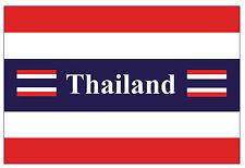 THAILAND FLAGGE - SOUVENIR NEUHEIT KÜHLSCHRANK-MAGNET - / SEHENSWÜRDIGKEITEN