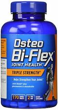 New 170 Coated Caplets Osteo Bi-Flex Glucosamine Chondroitin MSM Triple Strength