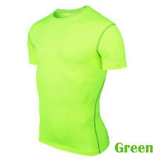 Men's Compression Armour Base Layer Tight Shirt Top Thermal Skins Sport T-shirts