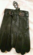 Nwt Michael Kors Womens Leather Gloves Black Size XLarge
