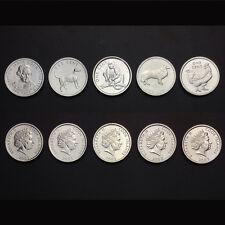 [K-2] Cook Islands Set 5 Coins, 5 x 1 Cents, 2003, UNC
