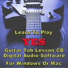 YES Guitar Tab Lesson CD Software - 39 Songs