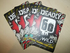 Deadly 60 Wild Official Trading Card BBC Earth Excellent pick 4 cards