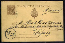 1896 Italy Postal Stationery Postcard Cover  to  Leipzig Germany