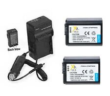 2 Batteries + Charger for Sony Alpha ILCE3000K/B ILCE-3000KBM SOA3000K1 SLT-A37M