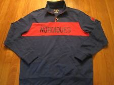 NEW RETRO MAJESTIC NHL VINTAGE HOCKEY QUEBEC NORDIQUES 1/4 ZIP SHIRT SIZE L