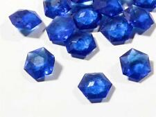 Lot (47) 8mm Czech antique hexagon faceted Sapphire crystal glass rhinestones
