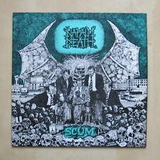NAPALM DEATH Scum UK vinyl LP with insert Earache Records MOSH 3 1987 Nr Mint