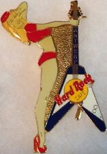 Hard Rock Cafe ANTWERP 1996 1st Anniversary PIN Bikini Girl V Guitar - HRC #309
