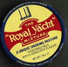 S17X - Scatola di latta DUNHILL ROYAL YACHT MIXTURE  tabacco + Stikers  Vintage