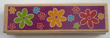 FLOWERS Rubber Stamp Wood Mounted Big Small Daisy Petals DIY Crafts Cards
