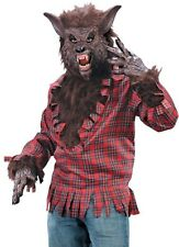 Werewolf Costume Adult Brown Tan Deluxe Cosplay Were Wolf WareWolf - Fast Ship -