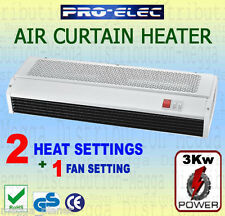 ProElec 3Kw Over-Door Screen Air Curtain Heavy Duty Steel Commercial Heater Fan