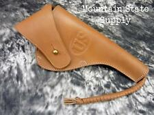 RH Colt US m1917 / S&W 1917 .45 ACP Revolver Natural Leather U.S. M2 WWI Holster