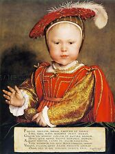 PAINTING ANTIQUE HOLBEIN JUNIOR TUDOR KING EDWARD VI ENGLAND ART PRINT LAH510A