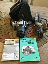 Canon EOS IX Lite Film Camera  WITH CASE AND NEW BATTERY WORKS GREAT